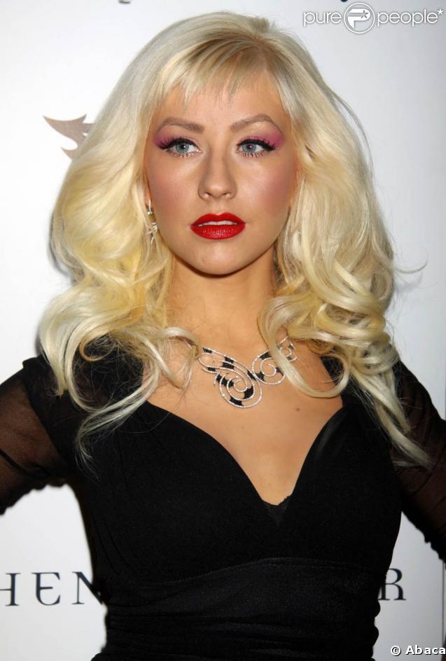 La jolie Christina Aguilera, lors du Collection Launch 2009, au TAO Nightclub du Venetian Hotel et Casino de Las Vegas, le 29 mai 2009 !