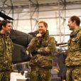 Le prince Harry, duc de Sussex, assiste à des manoeuvres militaires par grand froid à l'occasion des 50 ans du Commando Helicopter Force à Bardufoss, Norvège le 14 février 2019.
