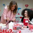 La First Lady Melania Trump visite un hôpital pour enfants à Bethesda, Maryland pour la Saint-Valentin le 14 Février 2019 © The White House via Bestimage