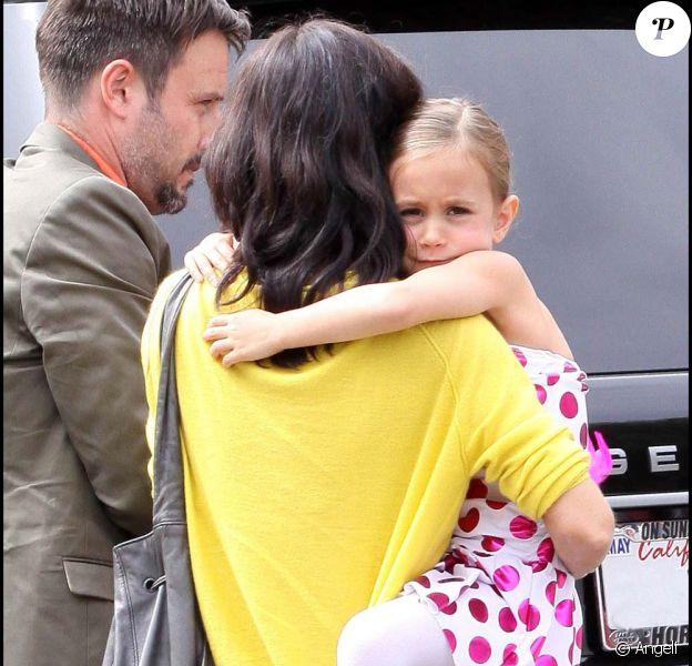 Courteney Cox et David Arquette avec leur petite Coco, à Los Angeles, le 30 mai