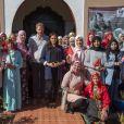 Le prince Harry, duc de Sussex, et Meghan Markle, duchesse de Sussex, enceinte, visitent un pensionnat de jeunes filles à Asni dans le cadre de leur voyage officiel au Maroc, le 24 février 2019.  Britain's Prince Harry and Meghan, Duchess of Sussex visit a girls boarding school in the village of Asni in the Atlas Mountains of Morocco. February 24th, 2019.24/02/2019 - Asni