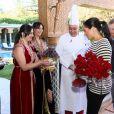 Le prince Harry, duc de Sussex et Meghan Markle (enceinte), duchesse de Sussex en visite à la Villa des Ambassadeurs à Rabat lors de leur voyage officiel au Maroc. Le 25 février 2019