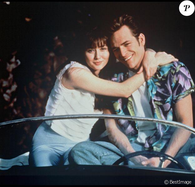 Shannen Doherty et Luke Perry en 1990