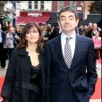 Rowan Atkinson et Sunetra Sastry à Londres en 2007
