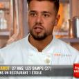 """Florian lors du cinquième épisode de """"Top Chef"""" saison 10, diffusé le 6 mars 2019 sur M6."""
