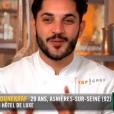 """Merouan lors du cinquième épisode de """"Top Chef"""" saison 10, diffusé le 6 mars 2019 sur M6."""