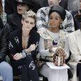 """Kristen Stewart et Janelle Monáe - People au défilé de mode Prêt-à-Porter automne-hiver 2019/2020 """"Chanel"""" à Paris. Le 5 mars 2019 © Olivier Borde / Bestimage"""
