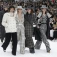 """Cara Delevingne - People au défilé de mode Prêt-à-Porter automne-hiver 2019/2020 """"Chanel"""" à Paris. Le 5 mars 2019 © Olivier Borde / Bestimage"""
