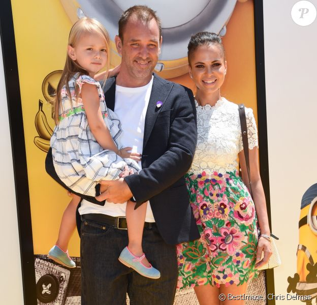 Trey Parker avec sa femme Boogie Tillmon et leur fille Betty à la première de 'Despicable Me 3' (Moi, moche et méchant 3) à Los Angeles le 24 juin 2017. © Chris Delmas / Bestimage