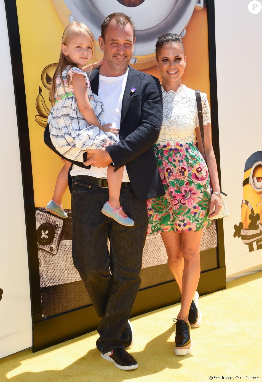 Trey Parker avec sa femme Boogie Tillmon et leur fille Betty à la première de 'Despicable Me 3' (Moi, moche et méchant 3) à Los Angeles le 24 juin 2017. © Chris Delmas / Bestimage
