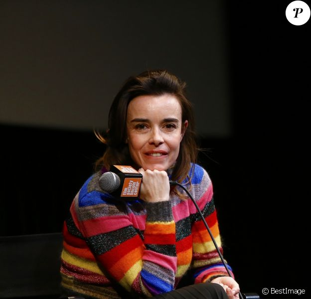 Elodie Bouchez pendant un questions/réponses lors du 24ème Rendez Vous with French Cinema (UNIFRANCE) au théâtre The Walter Reade dans le quartier The Upper West Side à New York City, New York, Etats-Unis, le 4 mars 2019. © Dessalles-Guerin/Bestimage