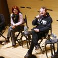 Eva Husson, Brady Corbet and Jean-Stéphane Sauvaire pendant un talk lors du 24ème Rendez Vous with French Cinema (UNIFRANCE) au théâtre The Walter Reade dans le quartier The Upper West Side à New York City, New York, Etats-Unis, le 4 mars 2019. © Guerin-Dessalles/Bestimage