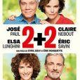 """Affiche de la pièce """"la pièce """"2+2"""" avec Elsa Lunghini."""