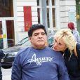 Maradona et sa petite amie Rocio Olivia - Exclusif - Le prince Ali de Jordanie, troisième fils du roi Hussein, et demi-frère du roi Abdallah II se promène avec Diego Maradona et sa petite amie Rocio Olivia dans les rues de Vienne, le 27 mars 2015.