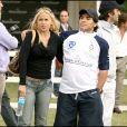 Veronica Ojeda et Diego Maradona - Finale de polo en Argentine, le 8 décembre 2007.
