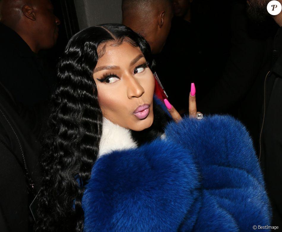 Nicki Minaj arrive à la soirée Sundays Grammy au club Argyle à Hollywood le 10 février 2019.