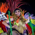 """Exclusif - Cathy Guetta défile sur le char de l'école de samba """"Academicos do Grande Rio"""" lors du carnaval de Rio de Janeiro, Brésil, le 4 mars 2019.© Denis Raphaël/Carnavalderio.fr/Bestimage"""
