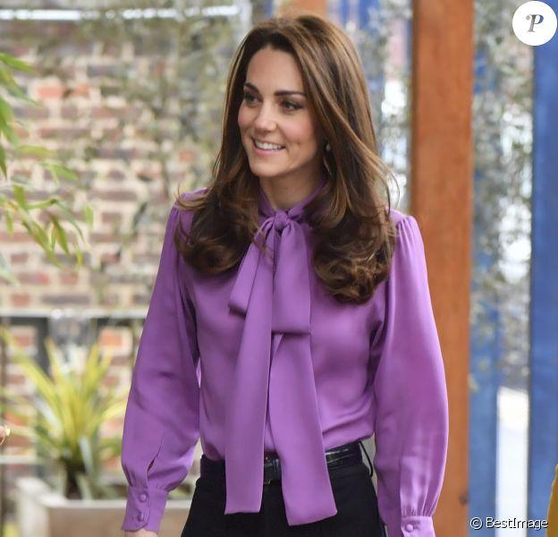 Catherine (Kate) Middleton, duchesse de Cambridge visite le centre Henry Fawcett pour enfants à Londres le 12 mars 2019.