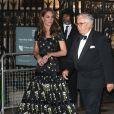 """La duchesse Catherine de Cambridge (Kate Middleton), en robe Alexander McQueen, assistait le 12 mars 2019 à Londres au gala de bienfaisance de la National Portrait Gallery pour la rénovation du musée, événement baptisé """"Inspiring People""""."""