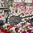 Exclusif - Sépulture fleurie de Johnny Hallyday au cimetière marin de Lorient à Saint-Barthélemy, le 16 février 2019.