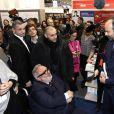Le premier ministre Edouard Philippe avec Dominique Farrugia - Salon du livre de Paris porte de Versailles le 14 mars 2019. © Cédric Perrin/Bestimage