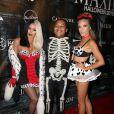 Aubrey O'Day, Shannon Bex, Kyle Massey à la soirée 'MAXIM Halloween' à Beverly Hills, le 24 octobre 2015