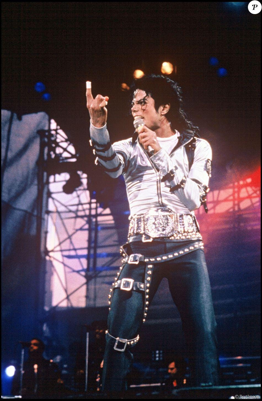Michael Jackson sur scène, en Irlande, le 4 août 1988.