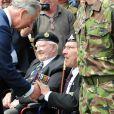 Le Prince Charles à Bayeux rencontre les vétérans. Le 6 juin 2009