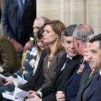 Le Prince Charles et Gordon Brown en la cathédrale de Bayeux pour une messe du souvenir. Le 6 juin 2009