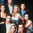 """Le casting de la série """"Beverly Hills, 90210"""" en 1990."""