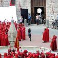 Robert Pattinson et Kristen Sewart sur le tournage de Twilight en Italie à Montepulciano.