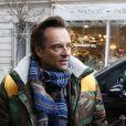 Exclusif - David Hallyday - Personnalités à la sortie de studios de radio à Paris. Le 15 janvier 2019