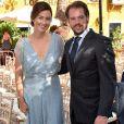 La princesse Claire et le prince Felix de Luxembourg au mariage de Marie-Gabrielle de Nassau et Antonius Willms à Marbella le 3 septembre 2017.