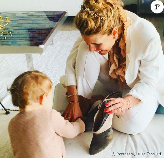 Laura Tenoudji et sa fille bianca - samedi 9 mars 2019