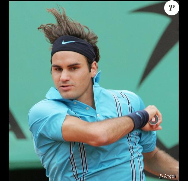 Roger Federer en pleine action !