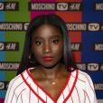 """Karidja Touré - Soirée de lancement de la collection """"H&M x Moschino"""" au """"Dernier Etage"""" à Paris, le 6 novembre 2018. © Pierre Perusseau / Bestimage"""