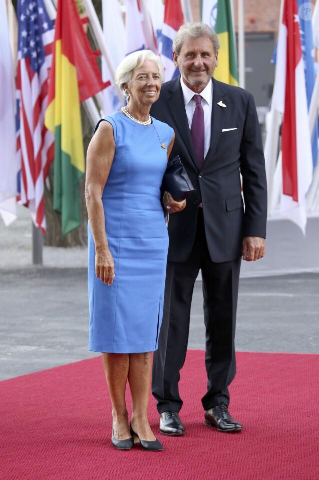 Christine Lagarde et son compagnon Xavier Giocanti - Les participants au sommet du G20 et leurs conjoints arrivent au concert de la Neuvième Symphonie de Beethoven à l'Elbphilharmonie de Hamburg, Allemagne, le 7 juillet 2017. © Future-Image/Zuma Press/Bestimage