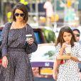 Exclusif - Katie Holmes et sa fille Suri Cruise se baladent dans le quartier de Soho à New York le 30 août 2018.