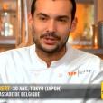 """Samuel lors du neuvième épisode de """"Top Chef"""" saison 10, mercredi 3 avril 2019 sur M6."""