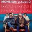 """Philippe de Chauveron et Christian Clavier lors de la première du film """"Monsieur Claude 2"""" (Qu'est-ce qu'on a fait au Bon Dieu 2) à Berlin en Allemagne le 2 avril 2019."""