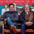 """Philippe de Chauveron, Christian Clavier lors de la première du film """"Monsieur Claude 2"""" (Qu'est-ce qu'on a fait au Bon Dieu 2) à Berlin en Allemagne le 2 avril 2019."""