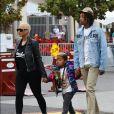 Exclusif - Amber Rose retrouve son ex-mari Wiz Khalifa pour une journée en famille avec leur fils Sebastian et assister au concert de Taylor Swift à Pasadena, le 20 mai 2018.