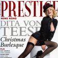 Dita Von Teese juste atomique en couverture de Prestige !