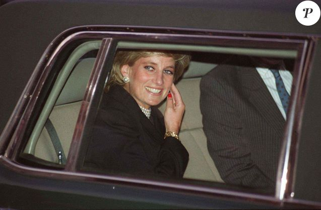 Lady Diana à Paris en 1995.