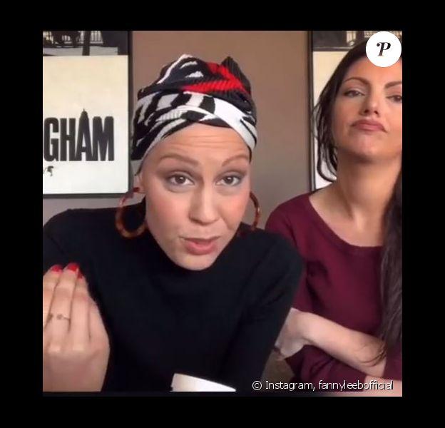 Fanny Leeb dans une vidéo tuto suite à son cancer, sur Instagram, le 7 avril 2019