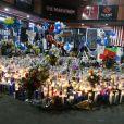 Hommage au rappeur Nipsey Hussle tué par balles devant son magasin à Los Angeles, le 3 avril 2019.