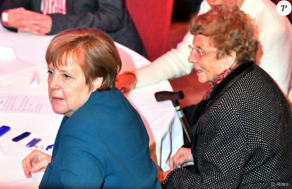 Angela Merkel et sa mère Herlind Kasner le 8 février 2019 à Templin