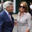 Michael et Carole Middleton - Arrivées au tournoi de tennis de Wimbledon à Londres. Le 11 juillet 2018