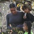 Exclusif - Kim Kardashian passe la journée avec ses enfants North West et Saint West à Los Angeles, le 28 janvier 2019.