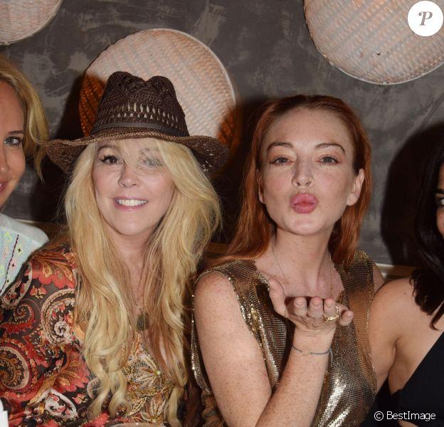 Exclusif - Lindsay Lohan fête son 32ème anniversaire avec famille et amis à Mykonos. Grèce, le 2 juillet 2018